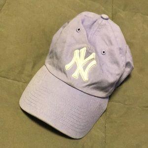 Purple Yankees hat